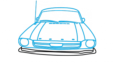 Drawing mustang simple. How to draw ford