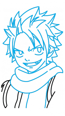 Snakeskin drawing step by. How to draw natsu