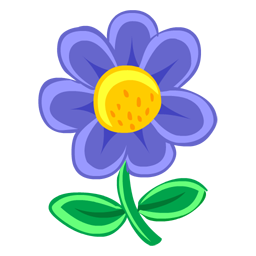 Blossom drawing clipart. Blue flower icon png