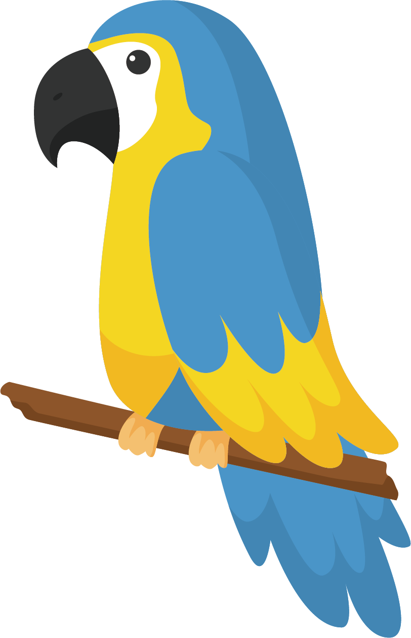 Blue drawing free bird. Parrot multicolored transprent png