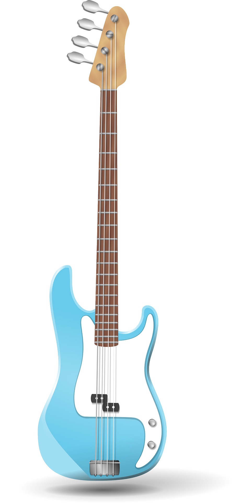 Drawing guitar eletric. Electric music blue brown