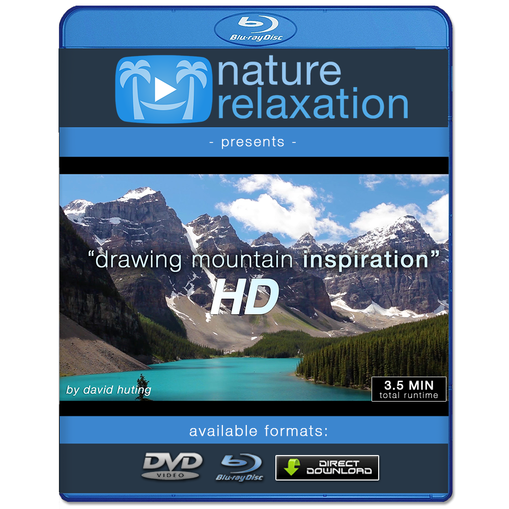 Hd drawing landscape. Mountain inspiration uplifting short