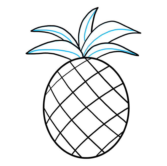 Colored drawing pineapple. How to draw a