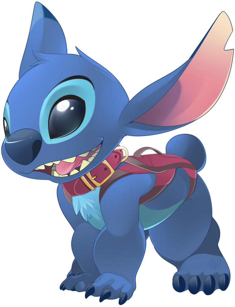 Blue drawing stitch. Dog by phation on