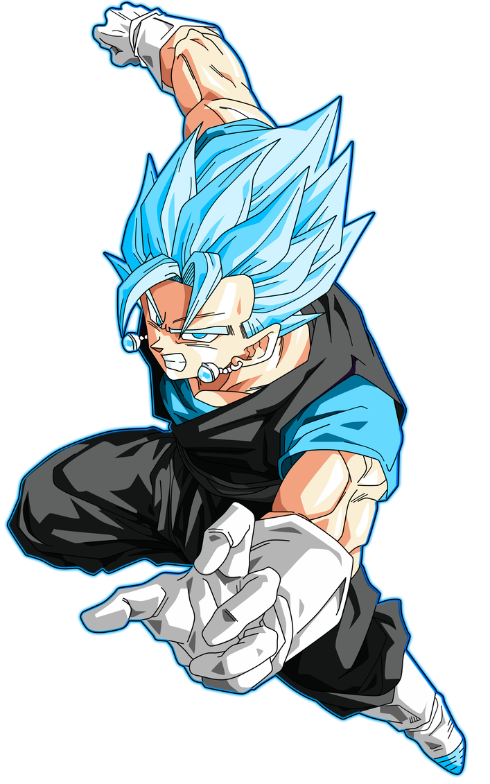 Blue drawing vegito. Ssgss glow black alternate