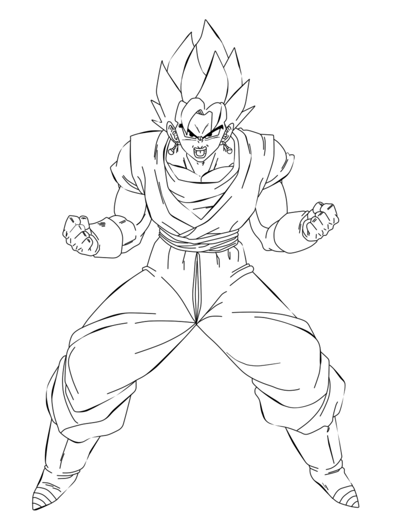 Blue drawing vegito. Coloring pages eskayalitim dragon