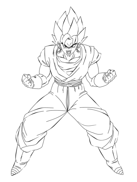 Blue drawing vegito. Coloring pages for free