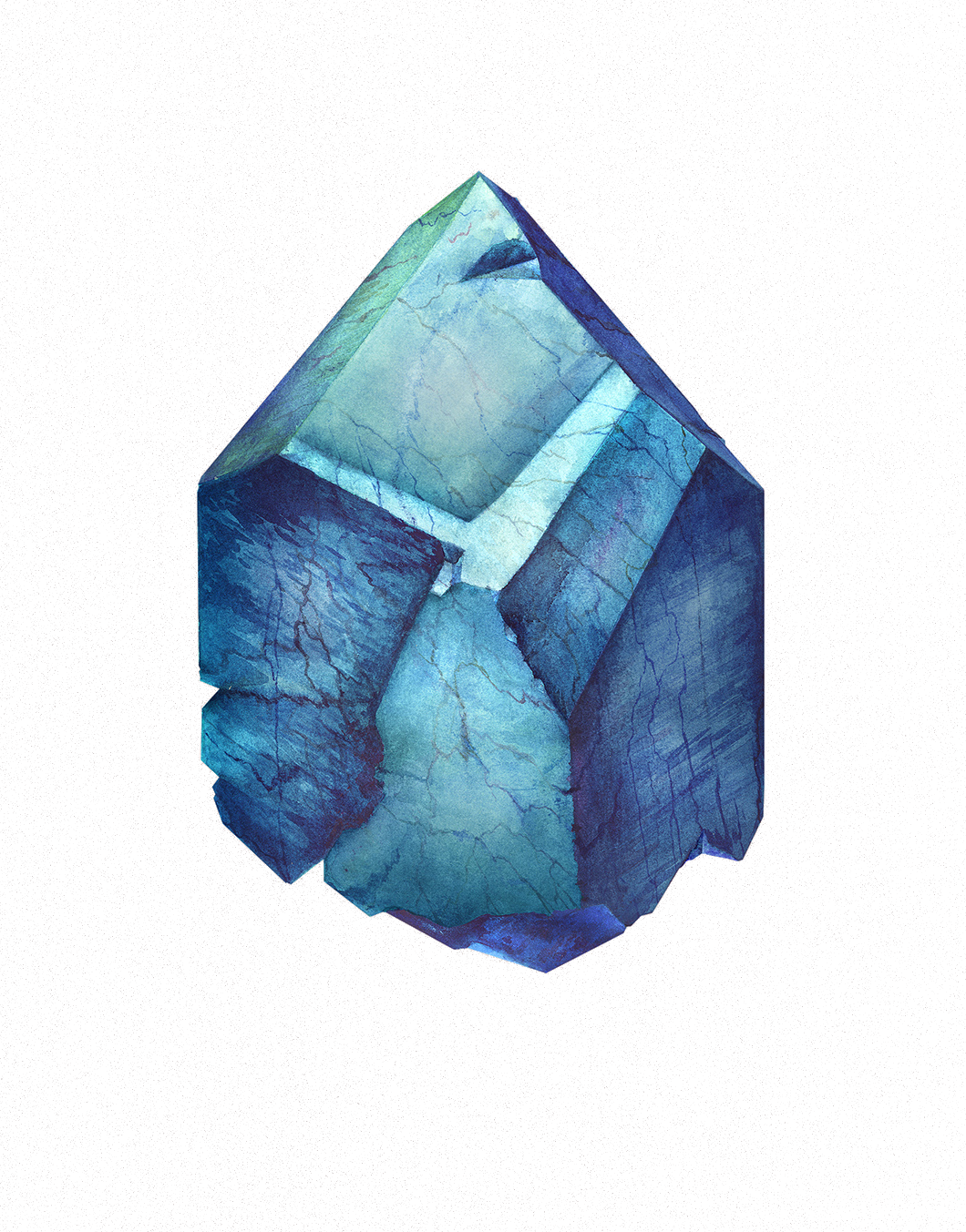 Blue drawing watercolor. Painting illustrator mineral illustration