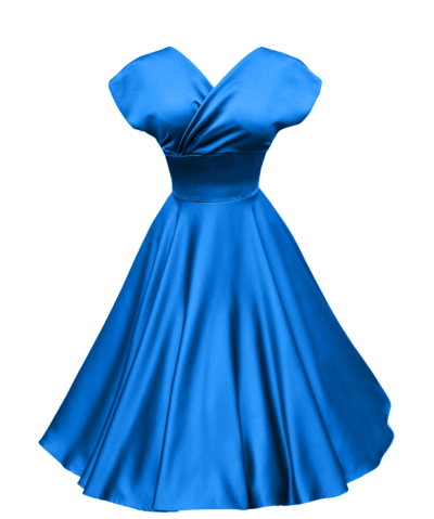 Blue dress png. Download free transparent image