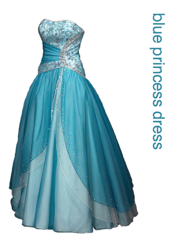 Elsa costume png. Blue princess dress by