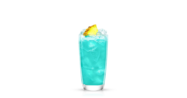 Blue drink png. Pineapple hawaiian recipe malibu