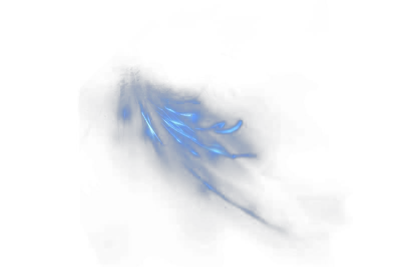 Wind effects png. Blue effect in by