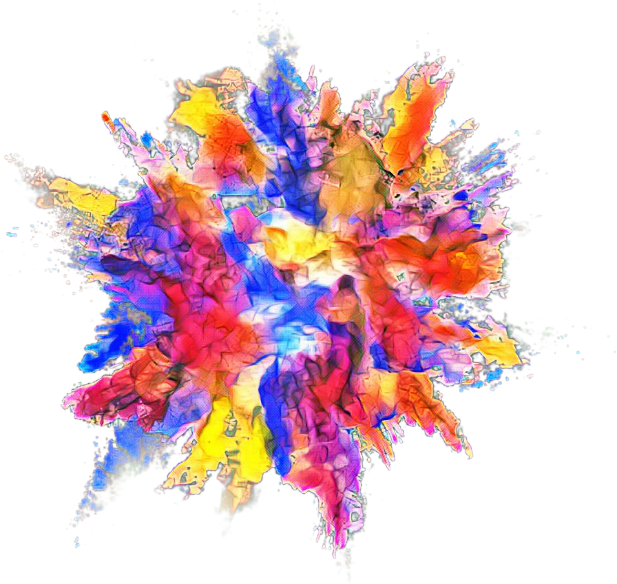 Paint explosion png. Download color powder dust