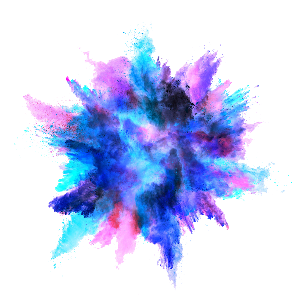 Blue explosion png. Color powder image purepng
