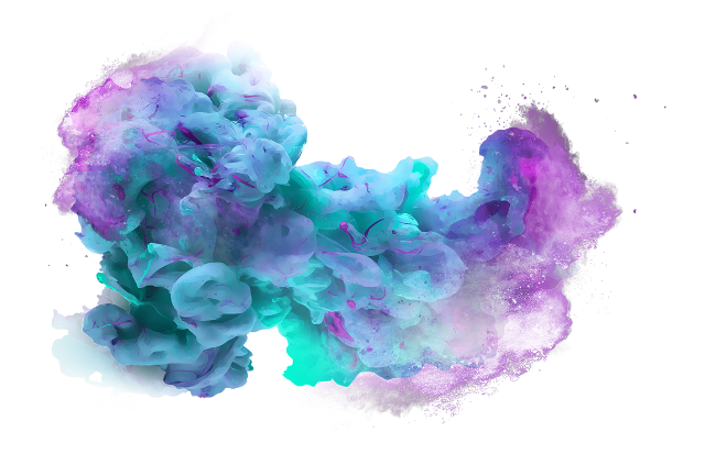 Blue purple smoke ink. Explosion of color png vector black and white library