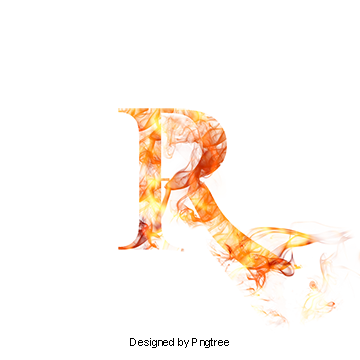 Fancy r png. Letter vectors psd and