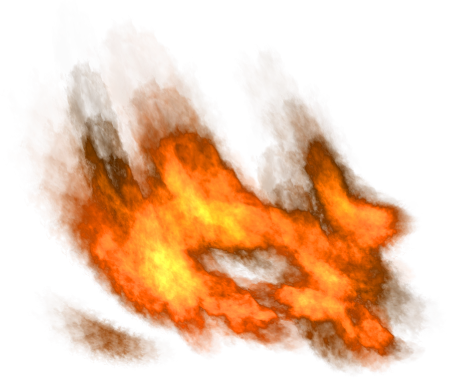Flame trail png