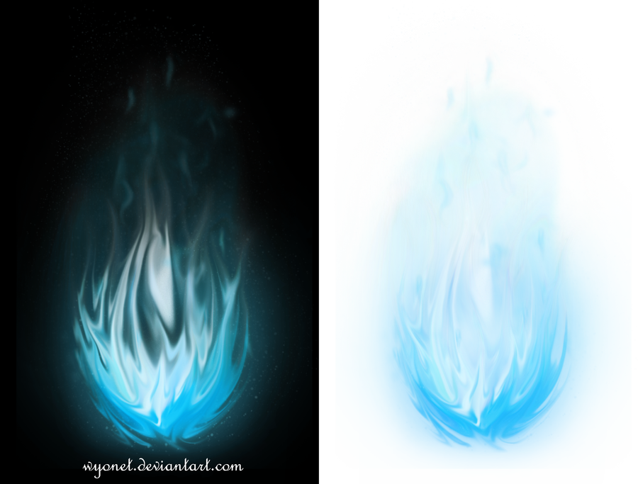 Blue fireball png. Stock by wyonet on