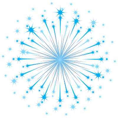 Blue fireworks png. Transparent stickpng