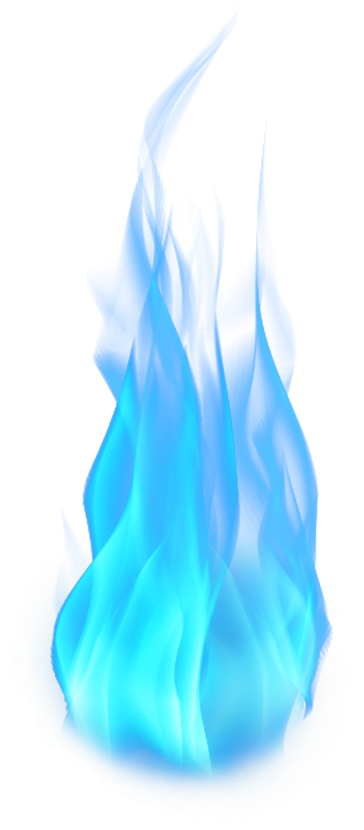 Blue flames png. Download fire lit colored