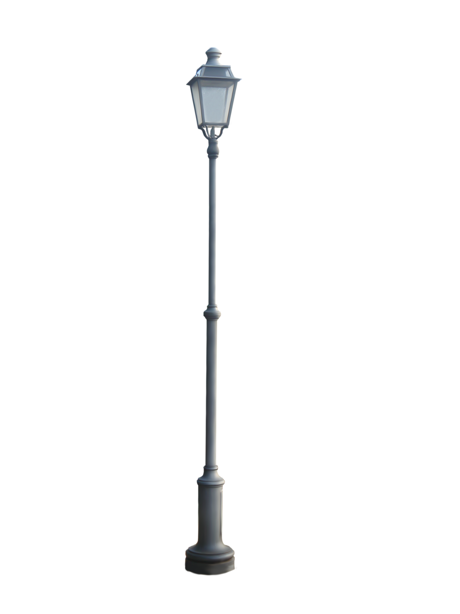 Street light png. Cut out lamp by
