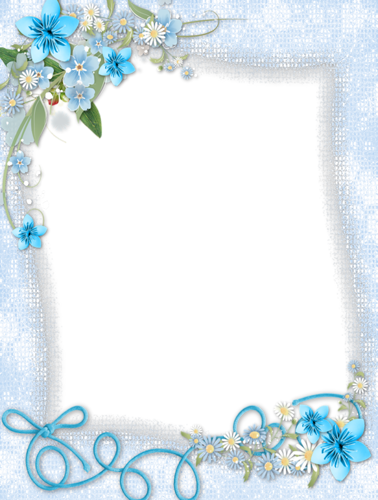 Royal blue borders and frames png. Border with corner flower
