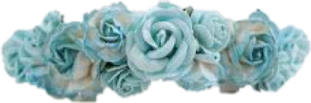 blue flower crown png