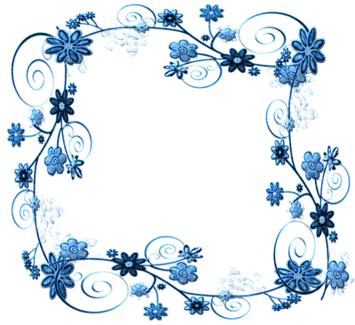 Blue flower frame png. Flowers picmix