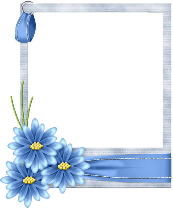 Blue flower frame png. Flo gallery yopriceville high