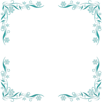 Blue flower frame png. Picmix