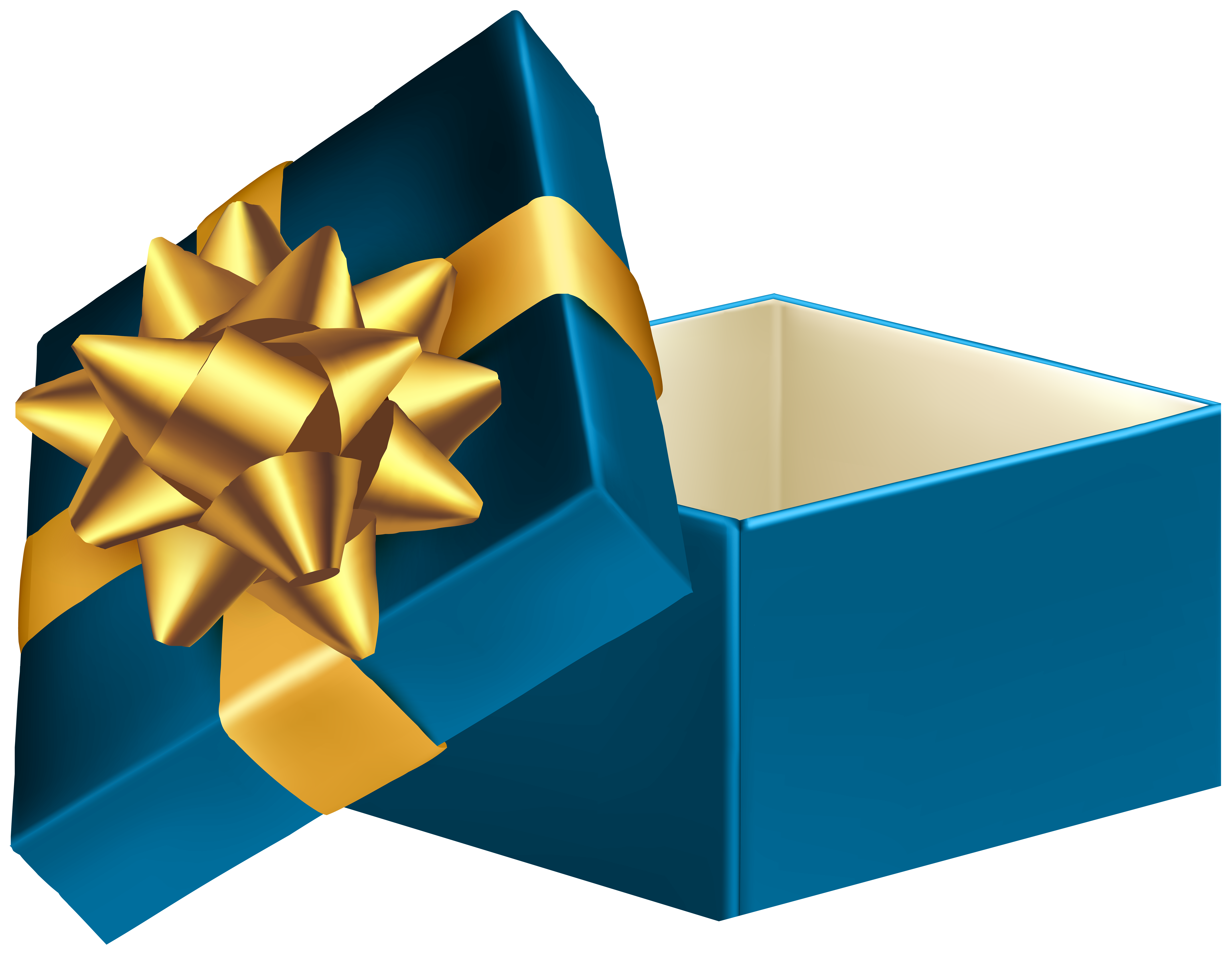 Blue gift box png. Open clip art image