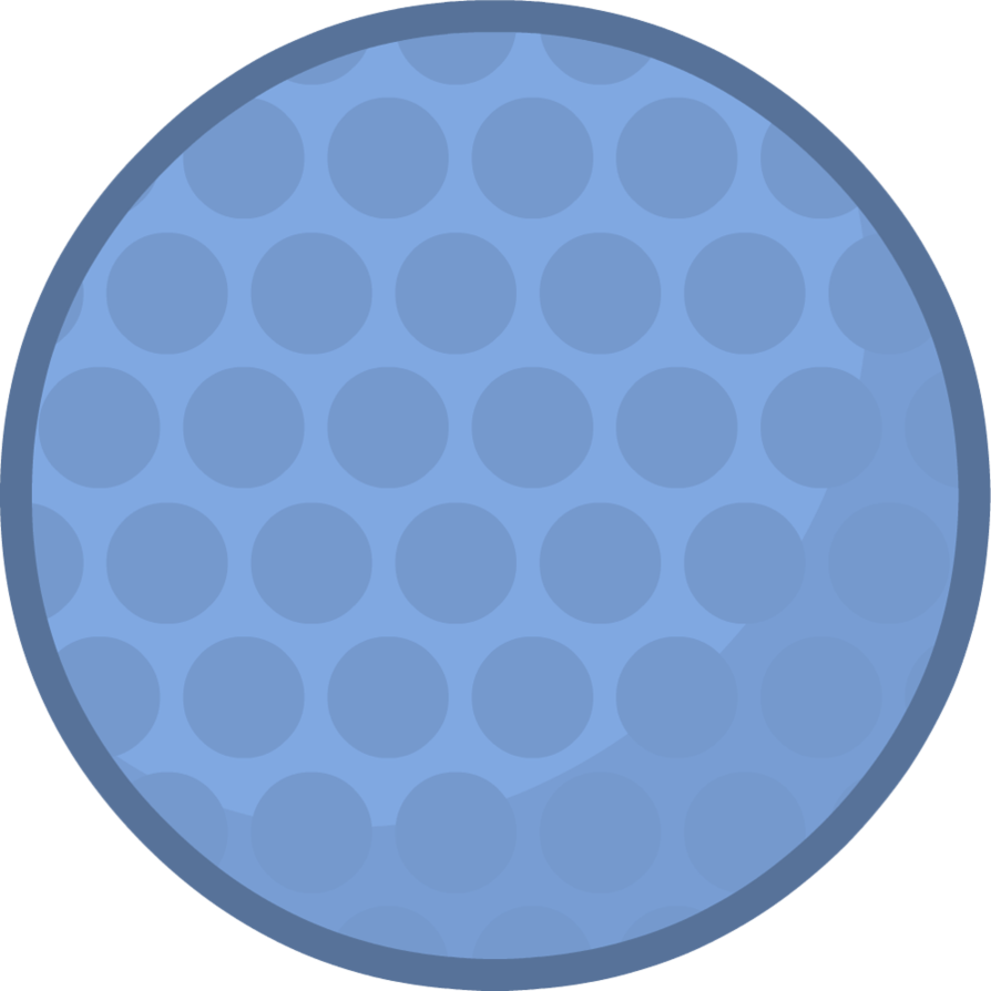 Blue golf ball png. Golfball body by brownpen