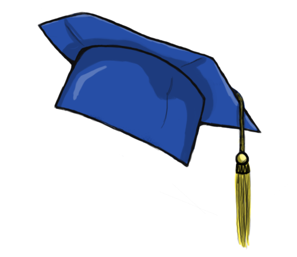 Blue graduation cap png. Collection of clipart