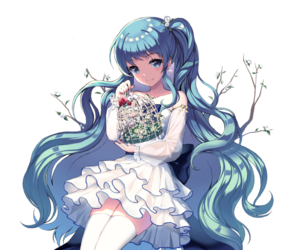 Blue hair anime girl png. Images about animes