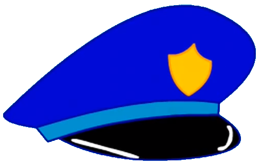 Cap clip blue object. Image police hat png