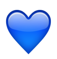Iphone heart emoji png. Ios blue