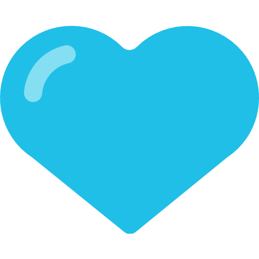 Facebook heart icon png. Blue emoji for email