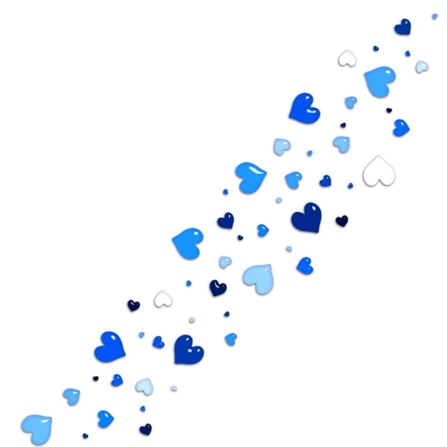 Blue hearts png. By alexedits on deviantart
