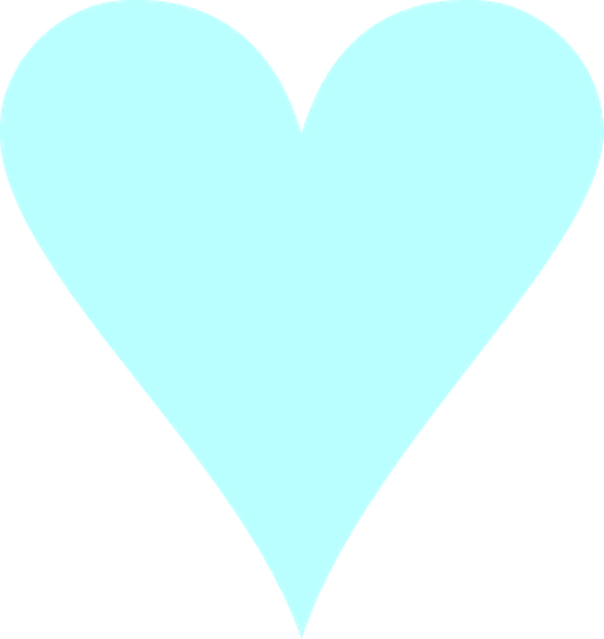 Heart, png turquoise. Blue heart