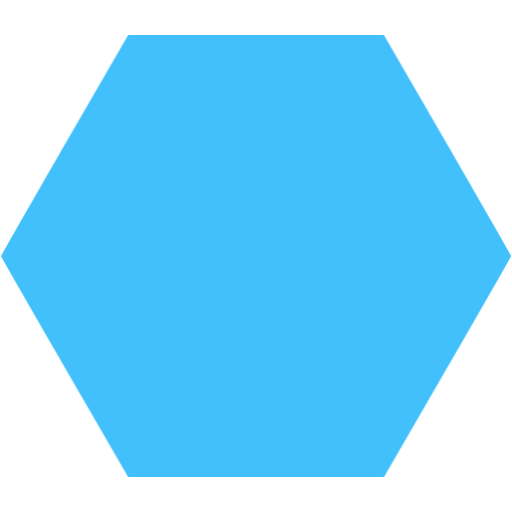 Blue hexagon png. Transparent free images only