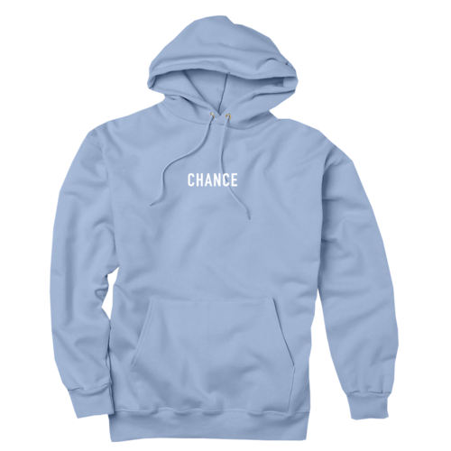 hoodie transparent powder blue