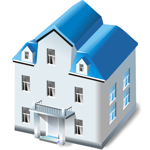 Blue hundreds png. House with two floors