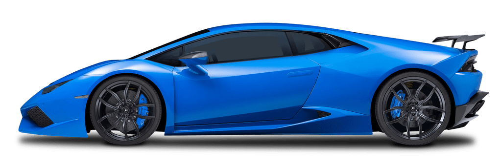 Lambo transparent huracan. Blue lamborghini car png