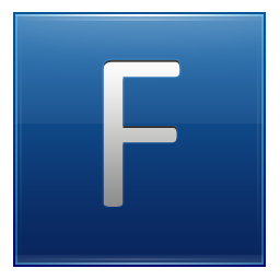 Icon multipurpose alphabet iconset. Blue letter f png png royalty free library
