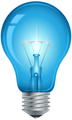 Blue light bulb clip. Lightbulb png graphic black and white download