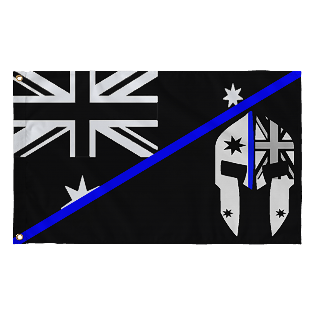 Australia transparent line. Spartac thin blue flag