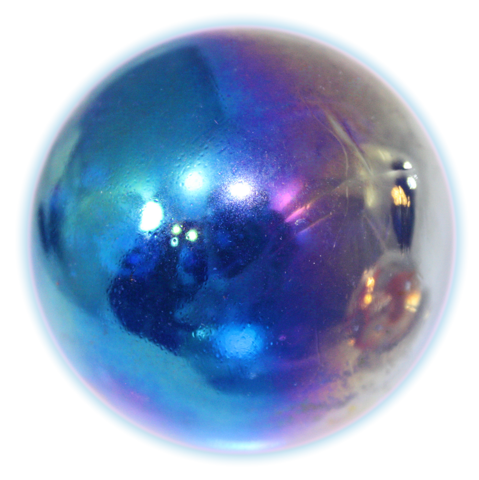 Blue marble png. Giant glass chrome mm