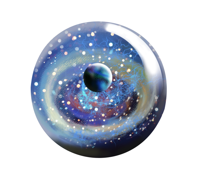 Blue marble png. The sphere glass colored