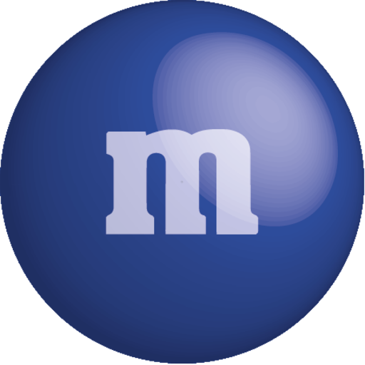 Blue m&m png. M s by carlos