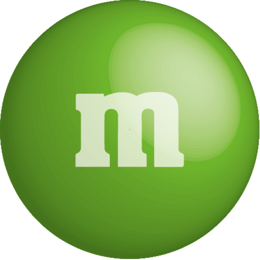 green m&m png